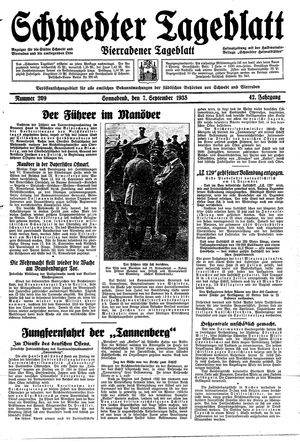 Schwedter Tageblatt vom 07.09.1935