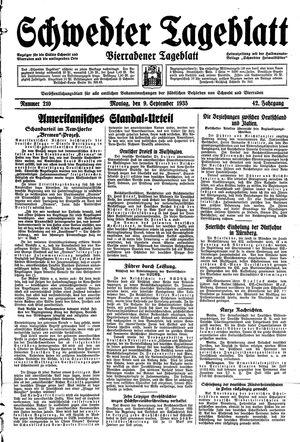 Schwedter Tageblatt vom 09.09.1935
