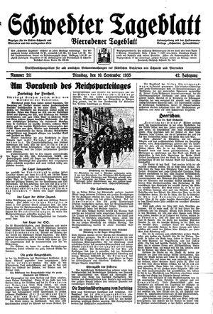Schwedter Tageblatt vom 10.09.1935