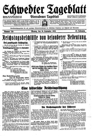 Schwedter Tageblatt vom 16.09.1935