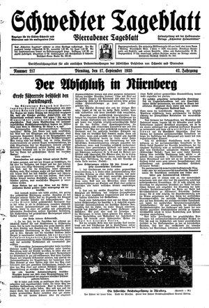 Schwedter Tageblatt vom 17.09.1935