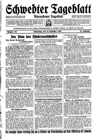 Schwedter Tageblatt vom 19.09.1935