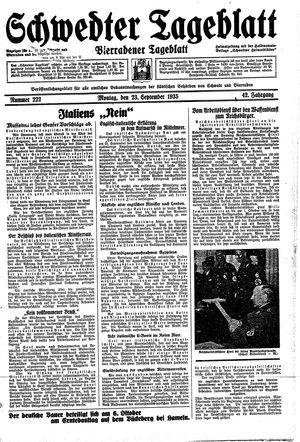 Schwedter Tageblatt vom 23.09.1935