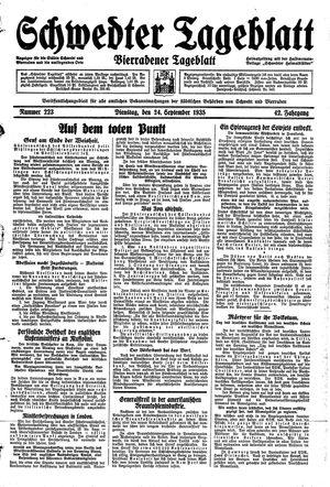 Schwedter Tageblatt vom 24.09.1935