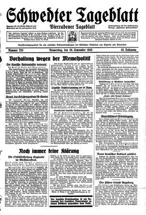 Schwedter Tageblatt vom 26.09.1935