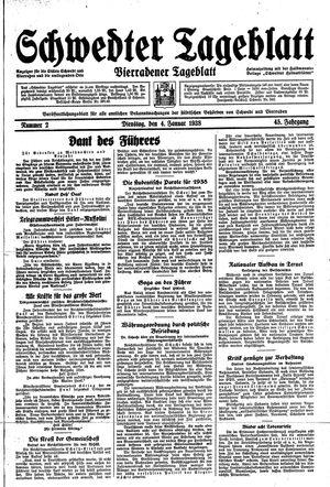 Schwedter Tageblatt vom 04.01.1938