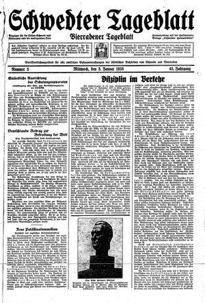 Schwedter Tageblatt vom 05.01.1938