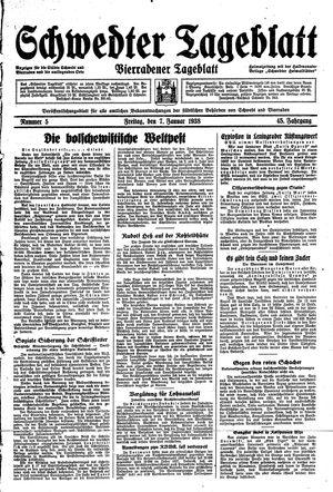 Schwedter Tageblatt vom 07.01.1938