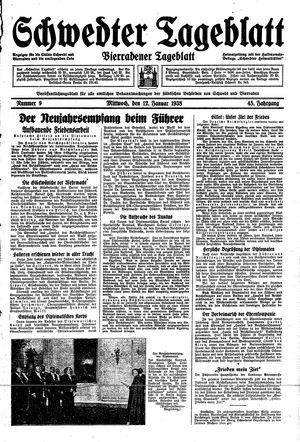 Schwedter Tageblatt vom 12.01.1938