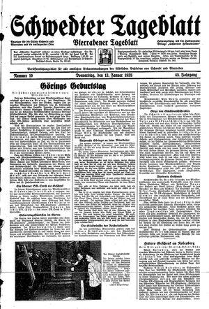 Schwedter Tageblatt vom 13.01.1938