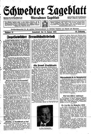 Schwedter Tageblatt vom 15.01.1938