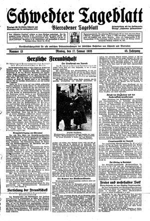 Schwedter Tageblatt vom 17.01.1938
