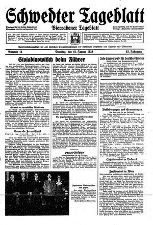 Schwedter Tageblatt vom 18.01.1938