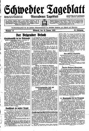 Schwedter Tageblatt vom 19.01.1938