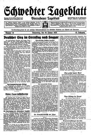 Schwedter Tageblatt vom 20.01.1938