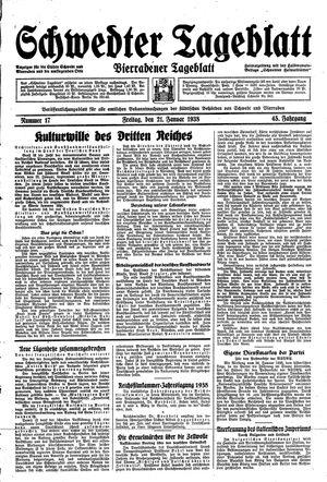 Schwedter Tageblatt vom 21.01.1938