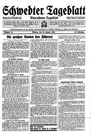 Schwedter Tageblatt vom 24.01.1938