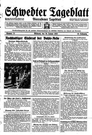Schwedter Tageblatt vom 26.01.1938
