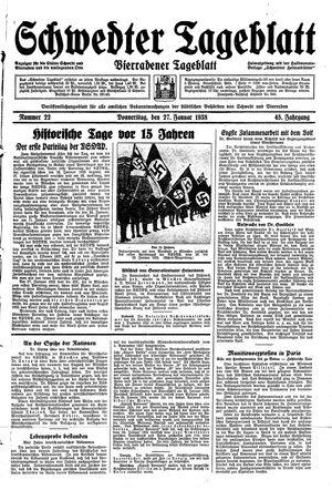 Schwedter Tageblatt vom 27.01.1938