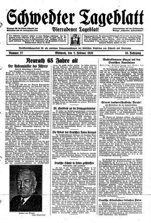 Schwedter Tageblatt on Feb 2, 1938