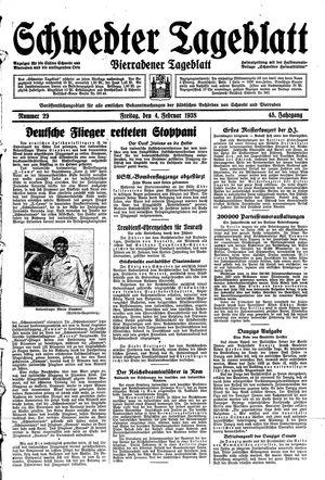 Schwedter Tageblatt vom 04.02.1938