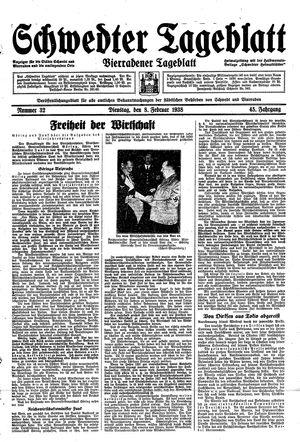 Schwedter Tageblatt vom 08.02.1938