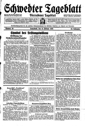 Schwedter Tageblatt vom 12.02.1938