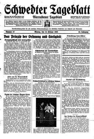 Schwedter Tageblatt on Feb 14, 1938