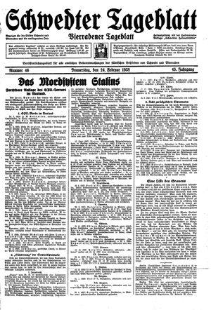 Schwedter Tageblatt on Feb 24, 1938