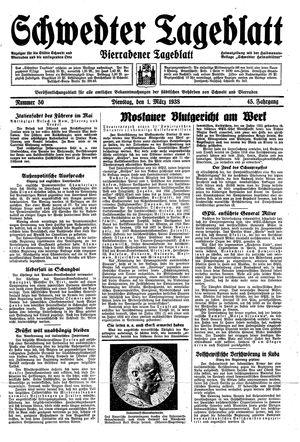 Schwedter Tageblatt vom 01.03.1938