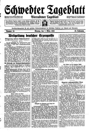 Schwedter Tageblatt vom 07.03.1938