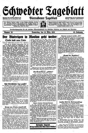 Schwedter Tageblatt on Mar 10, 1938