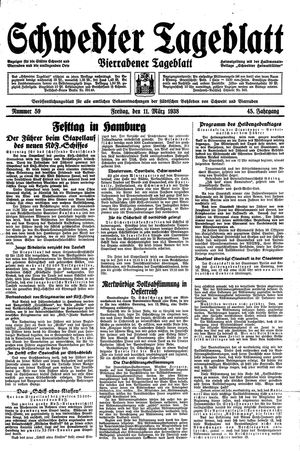 Schwedter Tageblatt vom 11.03.1938