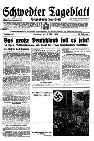 Schwedter Tageblatt vom 19.03.1938