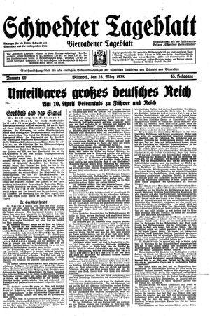 Schwedter Tageblatt on Mar 23, 1938