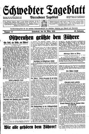 Schwedter Tageblatt vom 26.03.1938