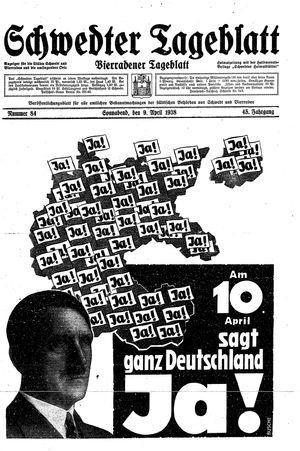 Schwedter Tageblatt vom 09.04.1938