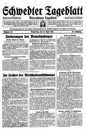 Schwedter Tageblatt on Apr 14, 1938