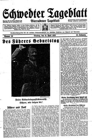Schwedter Tageblatt vom 19.04.1938