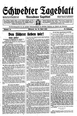 Schwedter Tageblatt vom 20.04.1938