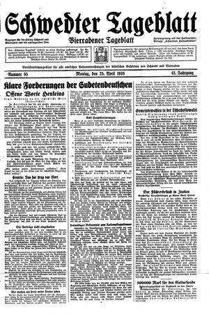 Schwedter Tageblatt on Apr 25, 1938