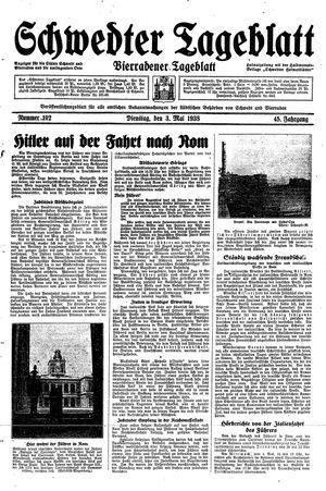 Schwedter Tageblatt vom 03.05.1938
