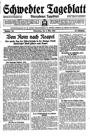 Schwedter Tageblatt vom 05.05.1938