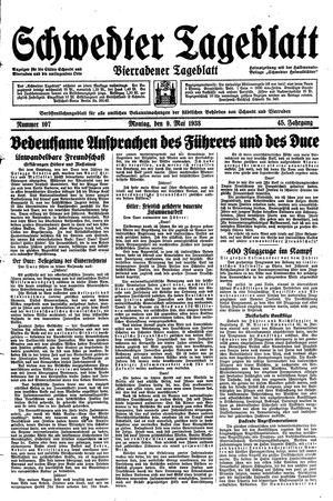 Schwedter Tageblatt vom 09.05.1938