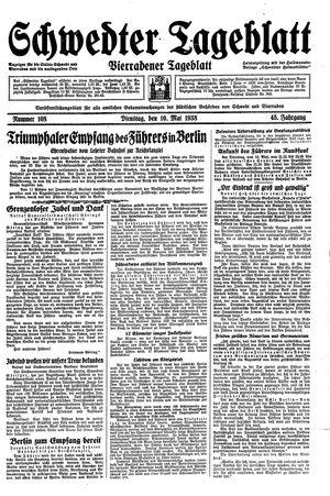 Schwedter Tageblatt on May 10, 1938