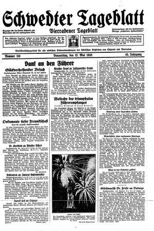 Schwedter Tageblatt vom 12.05.1938