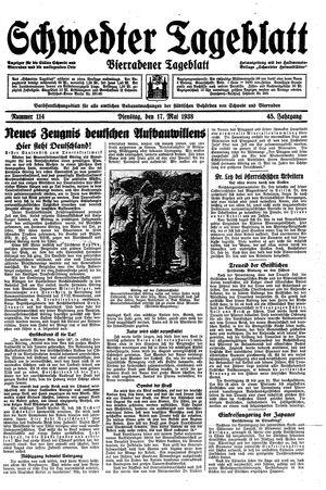 Schwedter Tageblatt vom 17.05.1938