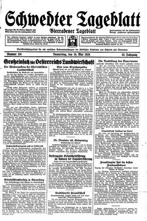 Schwedter Tageblatt vom 19.05.1938