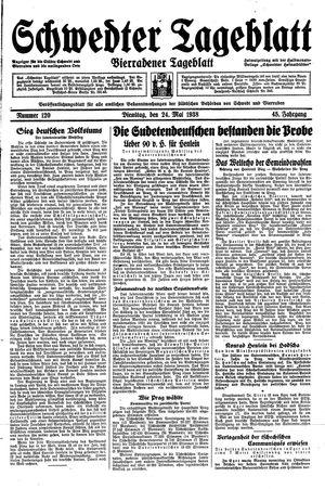 Schwedter Tageblatt on May 24, 1938