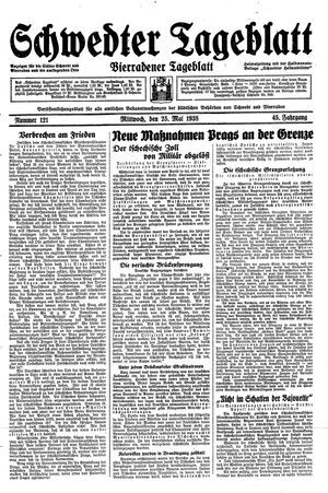 Schwedter Tageblatt vom 25.05.1938